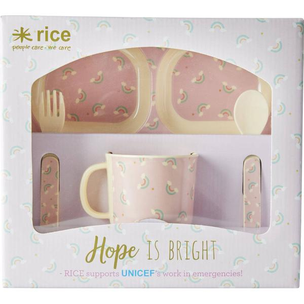 Rice Baby Dinner Set Rainbow Print
