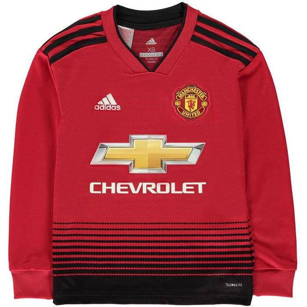 Adidas Manchester United Home LS Jersey 18/19 Youth