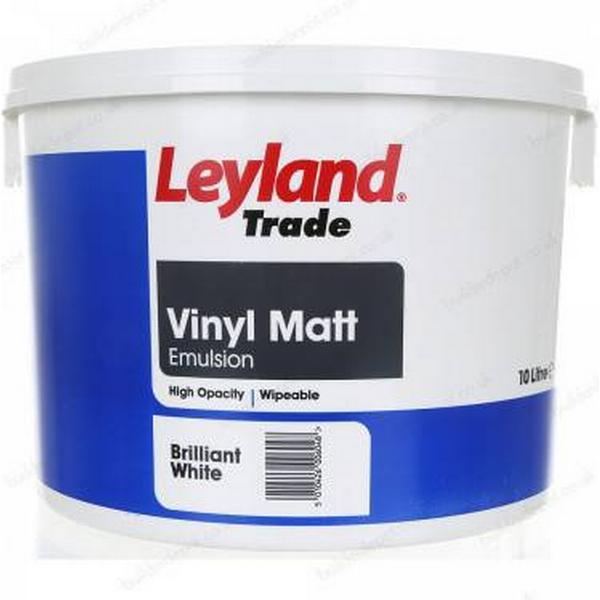 Leyland Trade Vinyl Matt Wall Paint, Ceiling Paint White 10L