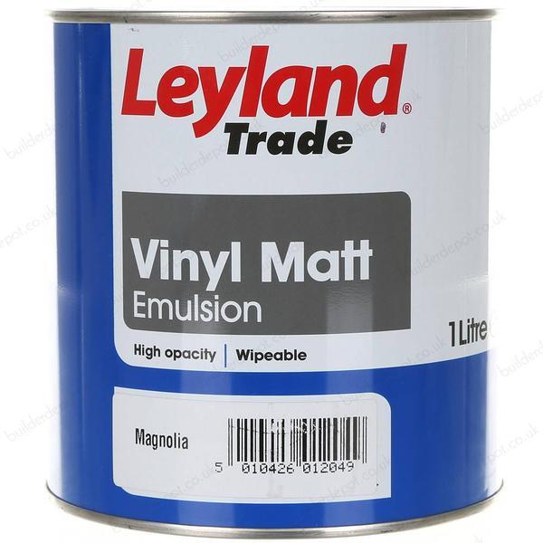 Leyland Trade Vinyl Matt Wall Paint, Ceiling Paint Beige 1L