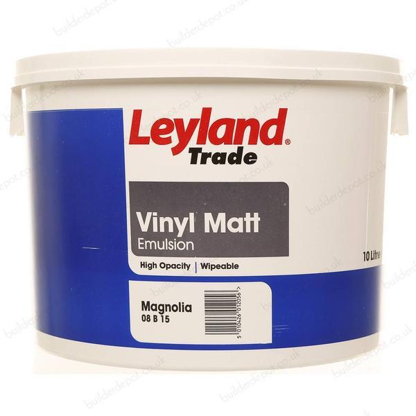 Leyland Trade Vinyl Matt Wall Paint, Ceiling Paint Beige 10L