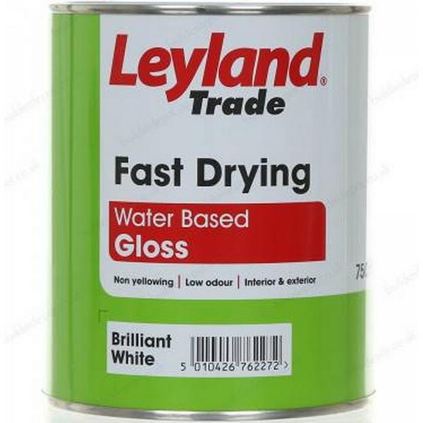 Leyland Trade Fast Drying Gloss Wood Paint, Metal Paint White 0.75L