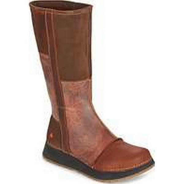 7bdab1fc504f Spartoo.co.uk Art HEATHROW women s High Boots in Brown Brown Brown a31342