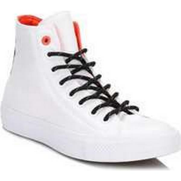 Spartoo.co.uk Converse All Star Chuck Taylor II II Taylor White/Lava Hi Top Shield Canvas Traine women's Shoes (High-top Trainers) in White 4e8b7b