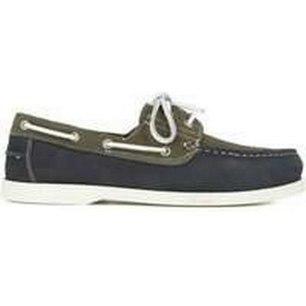Spartoo.co.uk J.bradford Bleu Chaussures Homme Bateaux Cuir Bleu J.bradford marine BOAT-MAR men's Boat Shoes in Grey 79482b