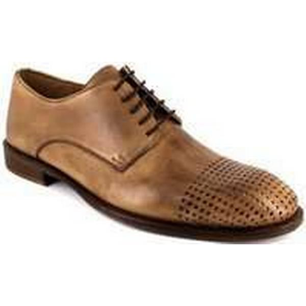 Spartoo.co.uk Peter Casual Blade Derby Brown Gold Leather MILLIARD men's Casual Peter Shoes in Brown 32e15f
