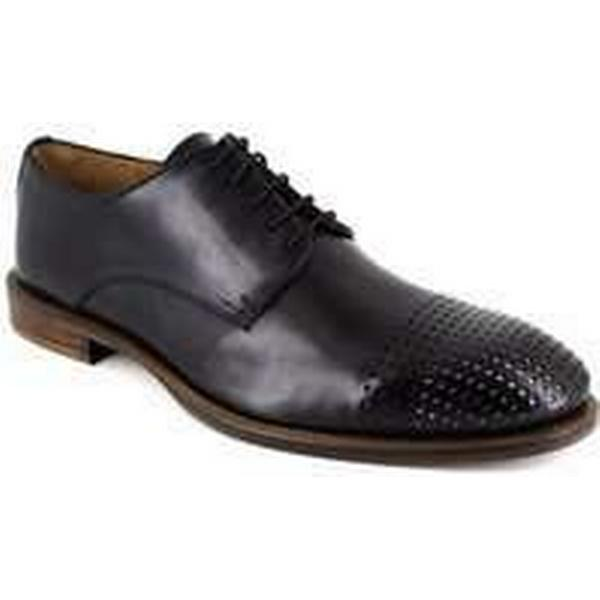 Spartoo.co.uk Peter Blade Derby Black Silver Leather in MILLIARD men's Casual Shoes in Leather Black 18674b