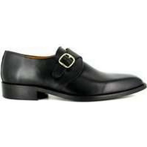 Spartoo.co.uk J.bradford Derby JB-FABIEN with buckle Black Leather JB-FABIEN Derby men's Smart / Formal Shoes in Black 4ad751