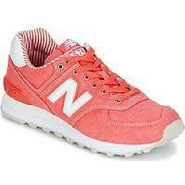Spartoo.co.uk New Balance WL574 women's (Trainers) Shoes (Trainers) women's in Orange bceb48