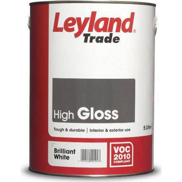 Leyland Trade High Gloss Wood Paint, Metal Paint Black 5L