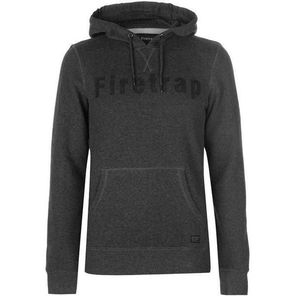 Firetrap OTH Graphic Hoodie Charcoal Marl