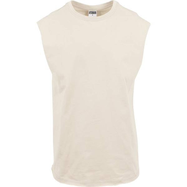 Urban Classics Open Edge Sleeveless Tee - Sand