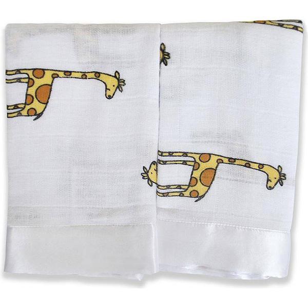 Aden + Anais Jungle Jam Giraffe Issie Security Blanket 2-pack