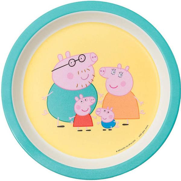 Petit Jour Baby Plate Peppa Pig with Parents