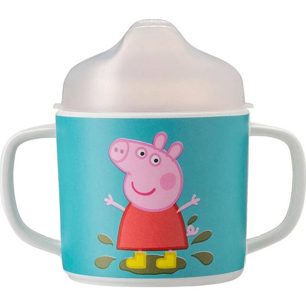 Petit Jour Double Handled Cup with Anti Slip Base Peppa Pig