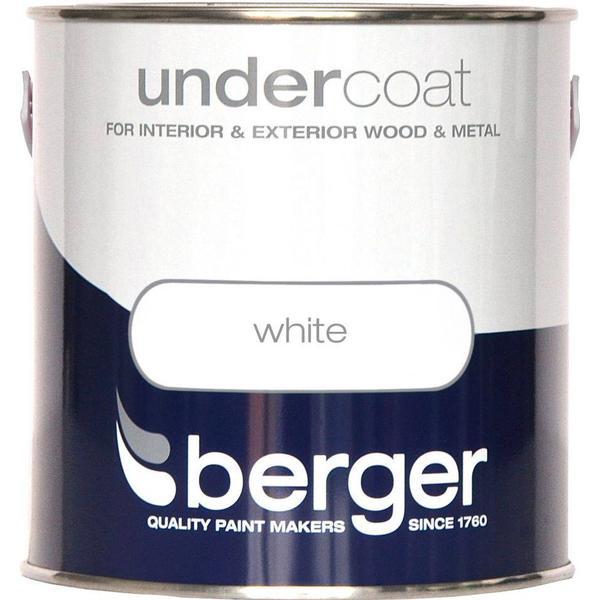 Berger Undercoat Wood Paint, Metal Paint White 2.5L