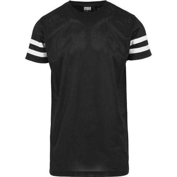 Urban Classics Stripe Mesh Tee - Black/White