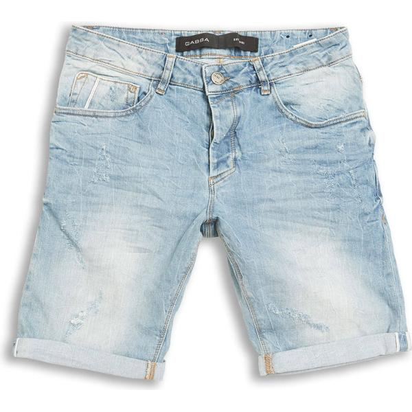Gabba Jason 3/4 1404GY Destroy Shorts Light Blue