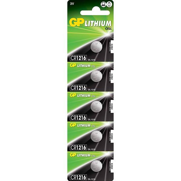GP Batteries CR1216 5-pack