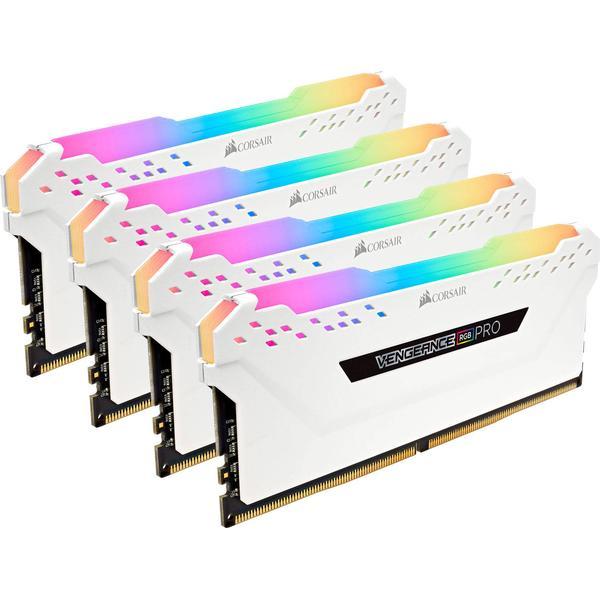 Corsair Vengeance RGB LED Pro White DDR4 3200MHz 4x16GB (CMW64GX4M4C3200C16W)