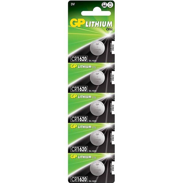 GP Batteries CR1620 5-pack