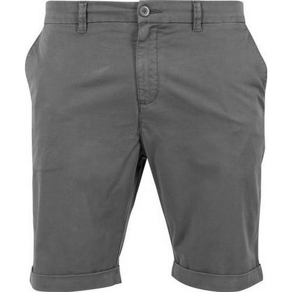Urban Classics Stretch Turnup Chino Shorts Darkgrey
