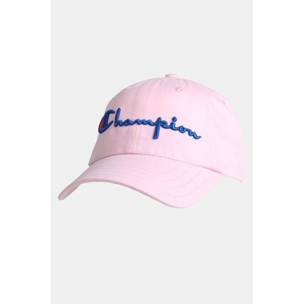 Champion Classic Script Logo Baseball Cap Pink