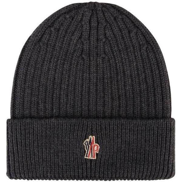 Moncler Grenoble Logo Beanie Hat - Charcoal