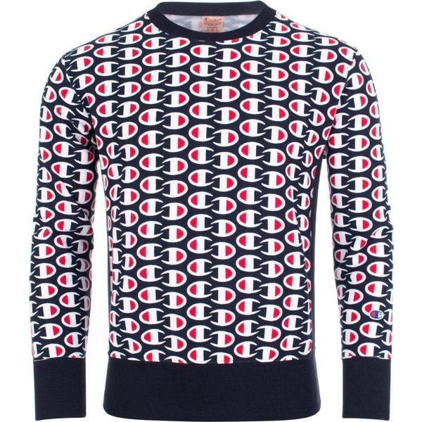 Champion Allover C Logo Print Reverse Weave Sweatshirt - Dark Turquoise