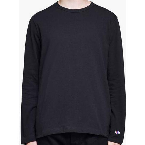 Champion C Patch Logo Long Sleeve T-Shirt Black