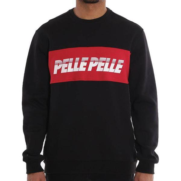 Pelle Pelle Sayagata Cut Sweatshirt Black