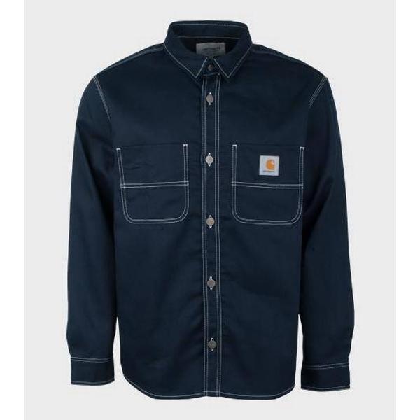 Carhartt Chalk Shirt Dark Navy/Rigid (I025939_1C_01)
