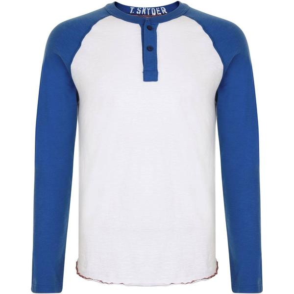 Champion Henley Long Sleeved T-shirt White/Royal