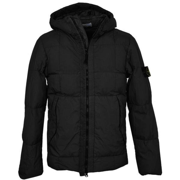 Stone Island Garment-Dyed Crinkle Reps Down Jacket Black