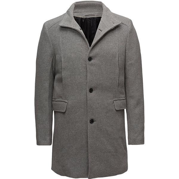 Selected Slhmosto Wool Coat - Medium Gray Melange