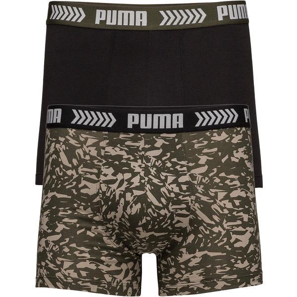 Puma Abstract Camo Basic Boxer Shorts 2-pack - Green/Black