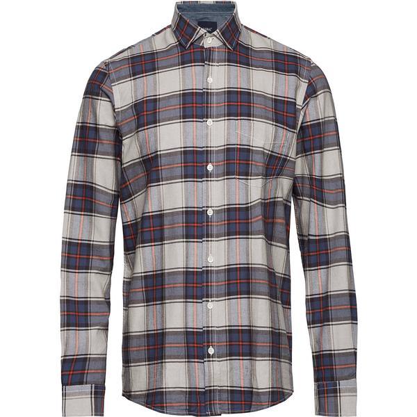 Signal Pelle Oxford Classic Check Shirt - Deep Orange