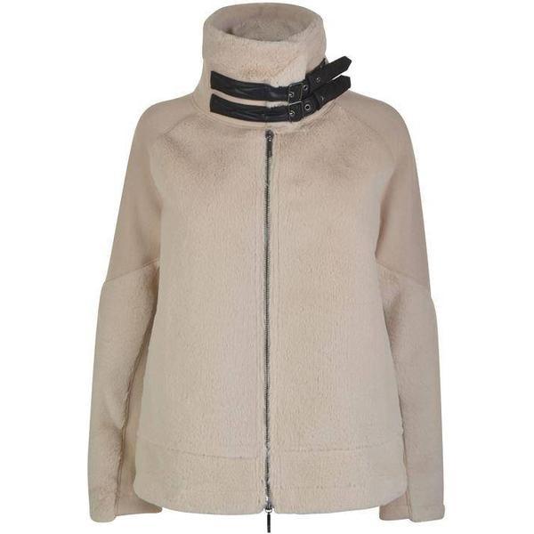 Armani Jeans Faux Fur Panel Jacket Beige