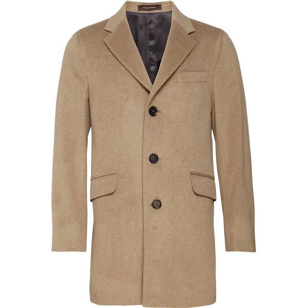 Oscar Jacobson Saks Wool & Cashmere Coat Beige