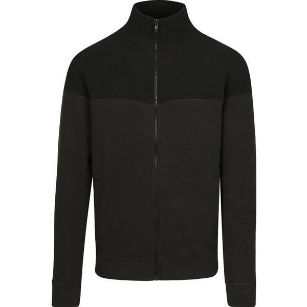 Urban Classics Oversize 2-Tone Polar Fleece Jacket - Olive/Black