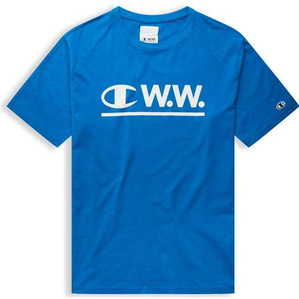 Champion X Wood Wood Colour Block Crew Neck T-shirt Nautical Blue