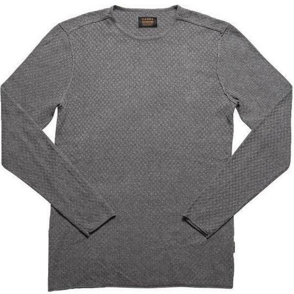 Gabba Robin O-Neck Knitted Sweater Mid Grey