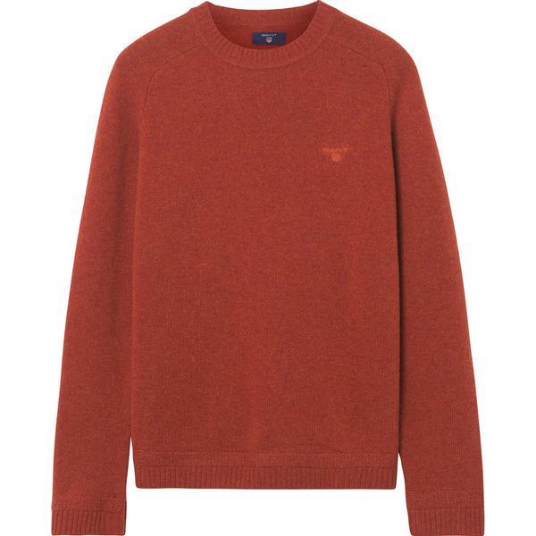 Gant Shetland Crew Sweater - Rust Melange