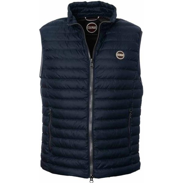 Colmar Light Gilet Down Vest - Navy/Coffee