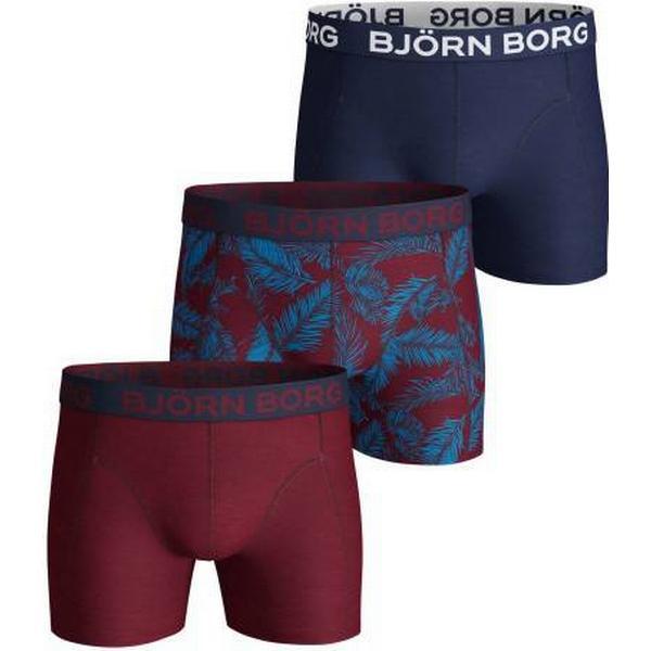 Björn Borg NY Palmleaf Cotton Stretch Shorts 3-pack - Beet Red