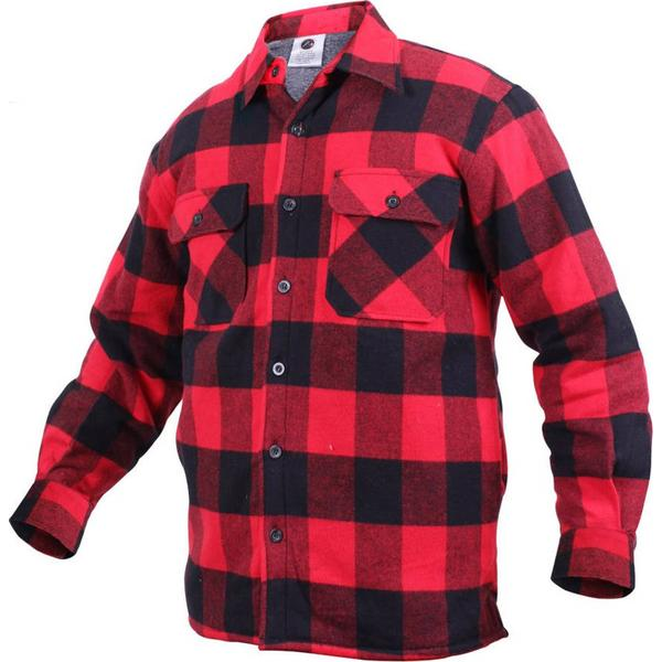 Rothco Extra Heavyweight Buffalo Plaid Sherpa-lined Flannel Shirts Red