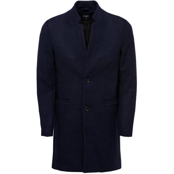 Only & Sons Wool Trenchcoat Blue/Night Sky