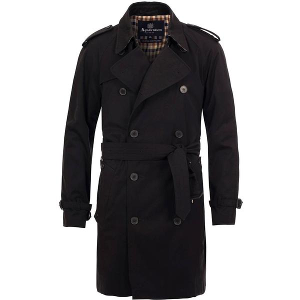Aquascutum Corby Double Breasted Trenchcoat - Black