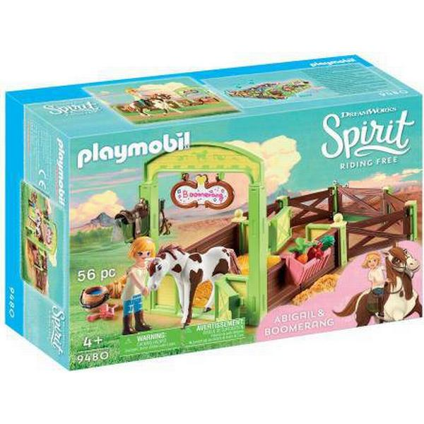 Playmobil Abigail & Boomerang with Horse Stall 9480