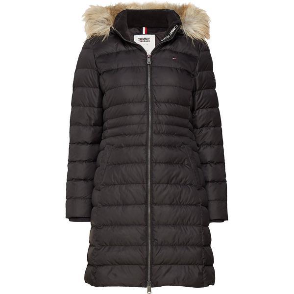 Tommy Hilfiger Faux Fur Hood Puffer Coat - Tommy Black